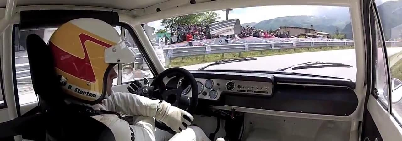 andrea stortoni a bordo della Ford cortina lotus